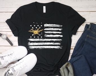a83a2e3a American Flag Drone T-Shirt, Distressed Drone Tee, Drone Lovers Gift, Drone  Racing Tee, Patriotic Drone, Drone pilot gift, Drone pilot shirt