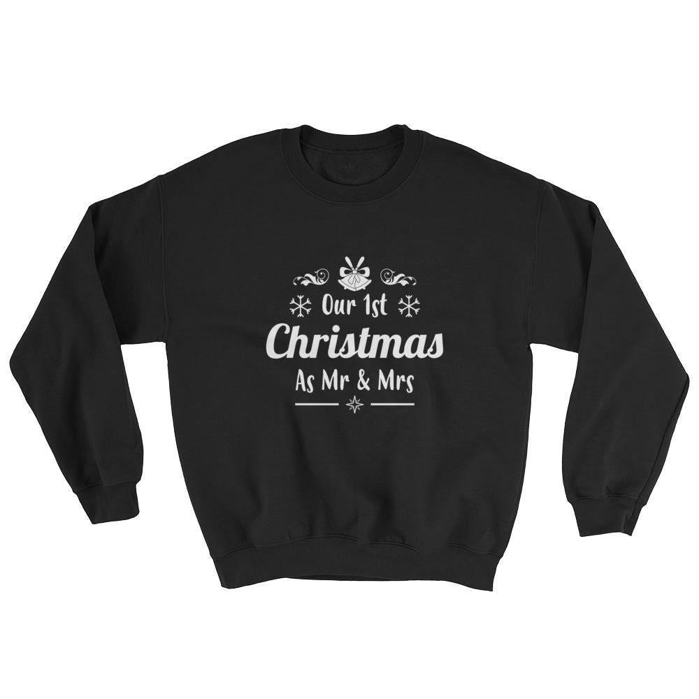 Unser erstes Weihnachten als Herr & Frau Sweatshirt | Etsy