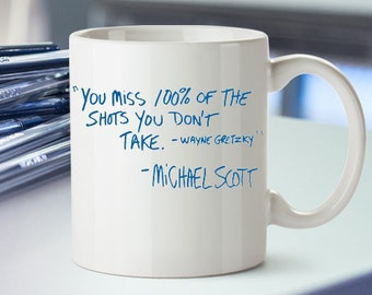 office mug the office tv show mug michael scott quote schrute farms keychain wayne gretzky office tv show mug etsy