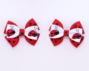 Ladybug Spring Hair Bow