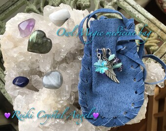 Owl Magic Crystal Healing Bag