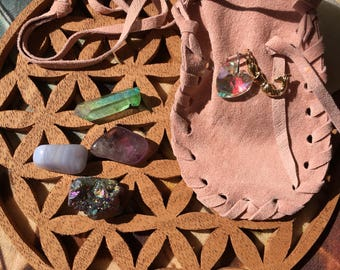 Mermaid Magic Crystal Healing bag with  Reiki charged crystals