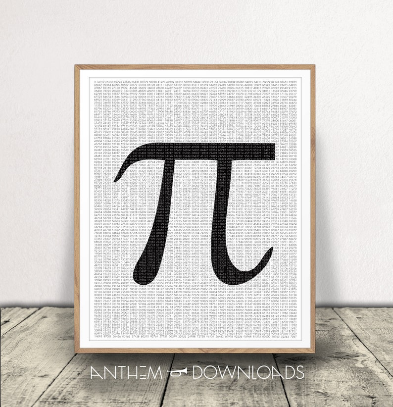 graphic relating to Pi Printable identified as PRINTABLE Pi Artwork Print Pi Digits Math Artwork Black and White Artwork Print Numerical Artwork Math Instructor Pi Working day 3.14 Pi Print Reward for Math Associate Pi π