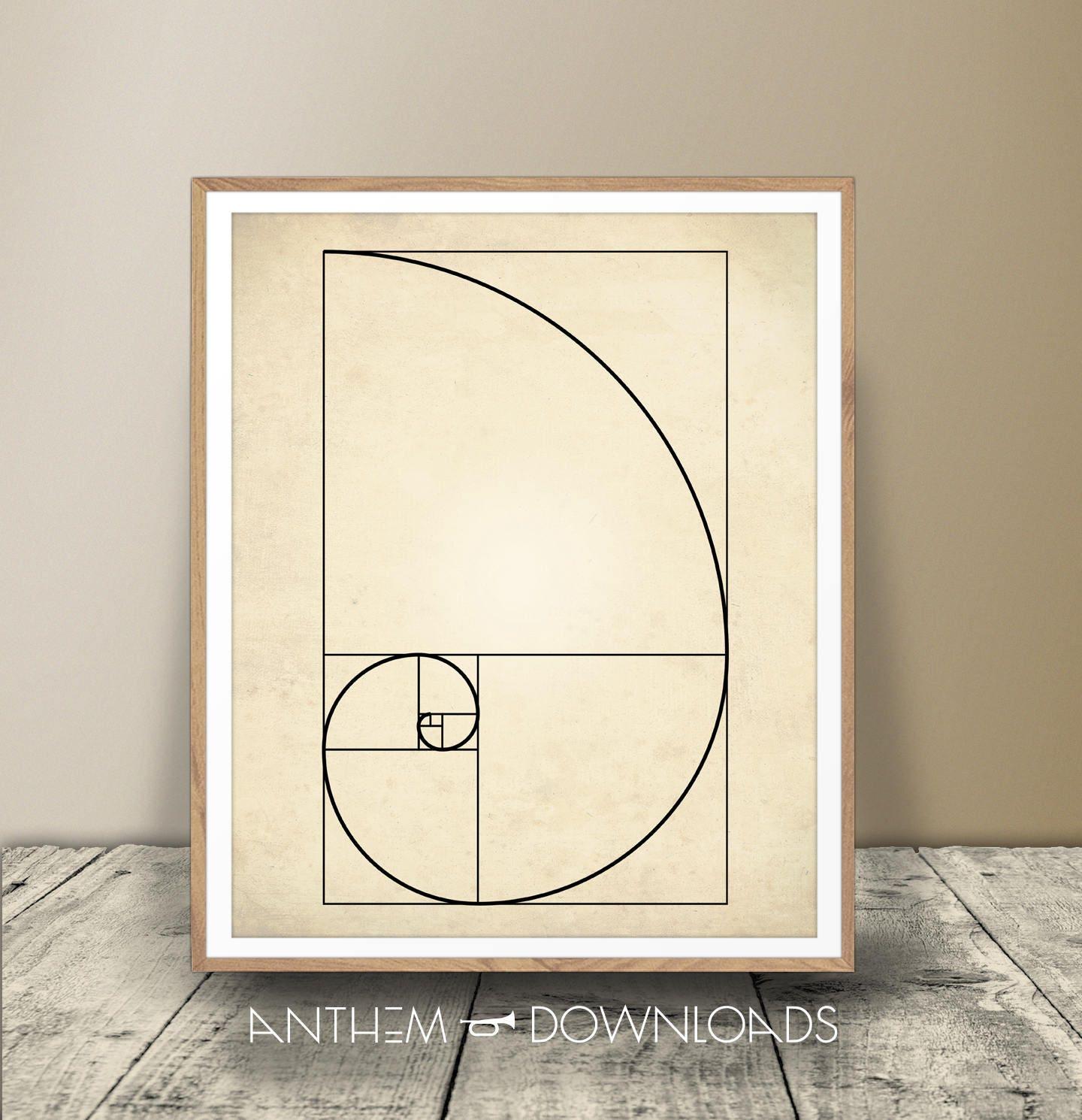 Fibonacci-Druck Digital Download Fibonacci-Jpeg