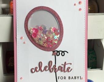 Baby Girl Shaker Greeting Card