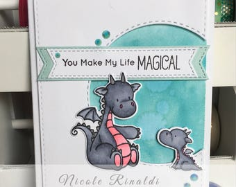 Love/Friendship Greeting Card with Dragons