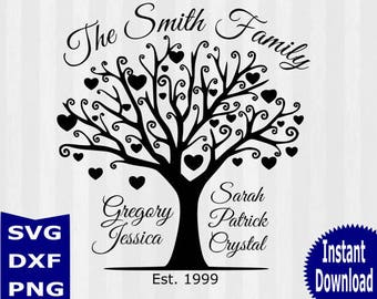 family tree svg etsy