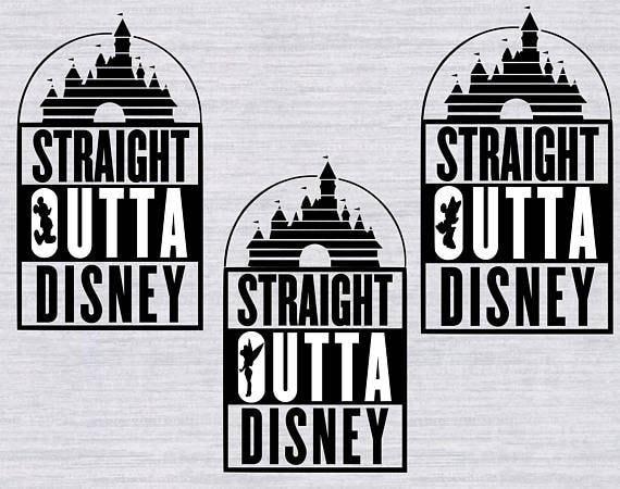 3 Svg Designs Straight Outta Disney Svg Files Straight Outta Etsy