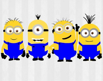 Despicable Me Minions, SVG Files, png Files, minion clipart, Despicable me svg, minion clip art, Minion SVG, svg files for Silhouette,cricut