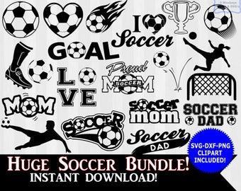 Soccer SVG, Soccer clipart, Soccer Silhouette, svg files, svg files for silhouette cameo or cricut, soccer mom, soccer dad, dxf, clip art