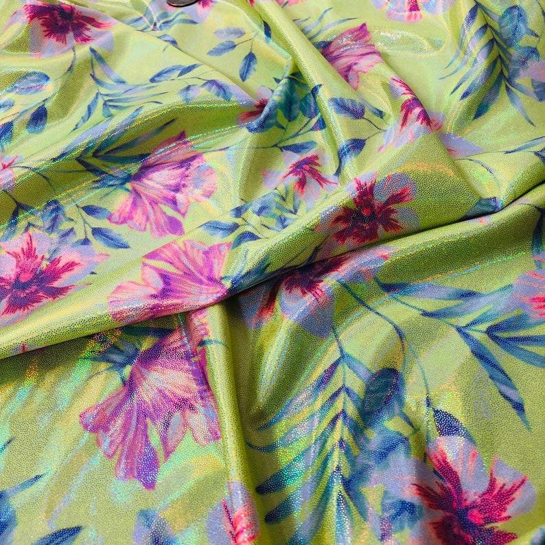 Nylon Lycra Spandex Fabric 4 Way Stretch Print