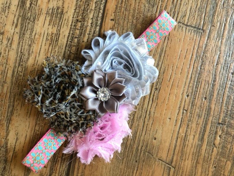 Multicolored shabby headband