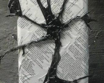 Original Abstract Mixed Media Art on Reclaimed Wood Shakespeare Decoupage
