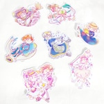 Assorted anime holgraphic stickers, saber, little witch academia, nausicaa, howl's moving castle, spirted away, nonon jakazure