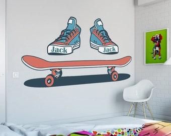 Skate vinyl decal Snowboard Skate sticker,Dancer wall art Ballerina,children room,Active GA069 Skateboard vinyl art