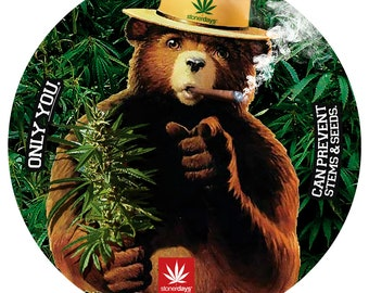 Smokey The Bear Dab Mat. Smokey The Bear Glass Mat. Smokey The Bear Glass  Mat. StonerDays. Smokey The Bear. Smokey. Bear. Bears. Animals. ed8bcdf1e