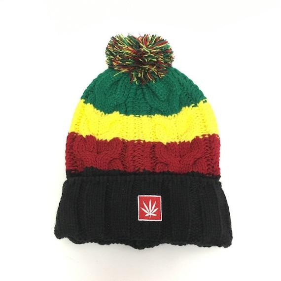 e37769574 Rasta Beanie. Rasta Knit Beanie. Beanie. Marijuana Beanie. Cannabis Beanie.  Marijuana Hat. Cannabis Hat. Weed Beanie. Weed Hat. Marijuana.