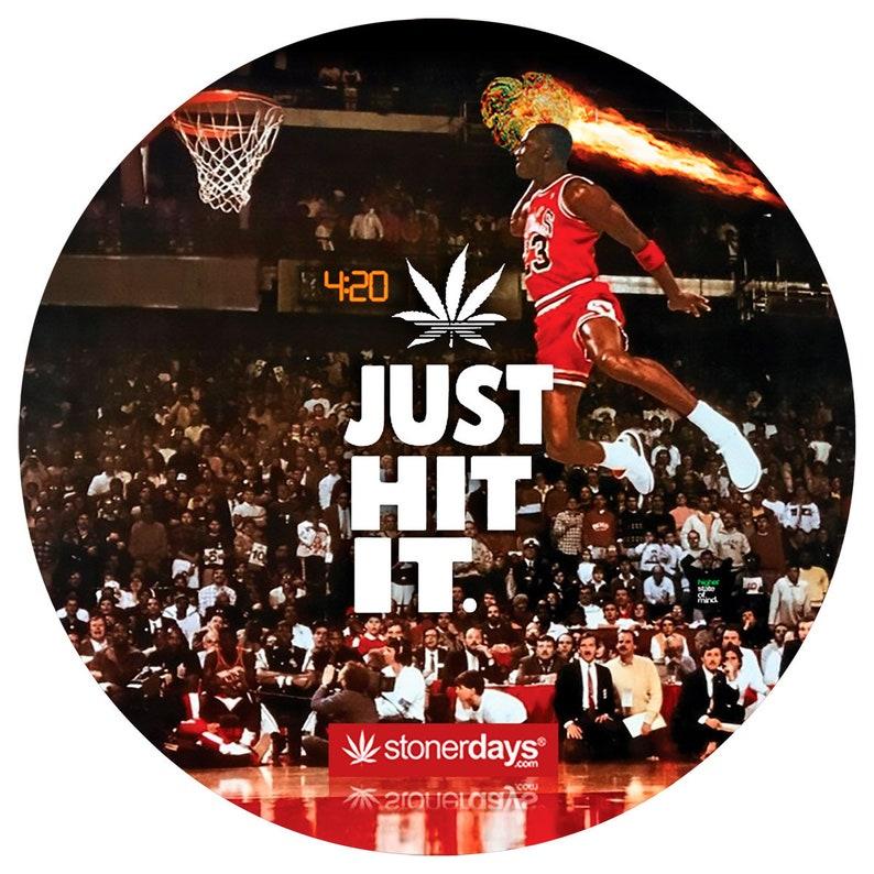timeless design 5a2be f37ff Air Jordan. Just Hit It Dab Mat. Just Hit It Glass Mat.   Etsy