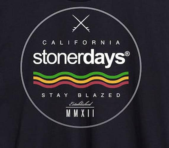 Weed Tank Top Rasta Surfs Up Stoner Shirts