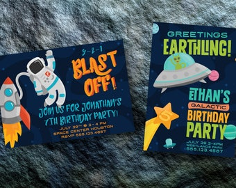 Space Themed Birthday, Space Party, Space Party Invitation, Space Party Printable Invitation, Alien Birthday Party, Astronaut Birthday Party