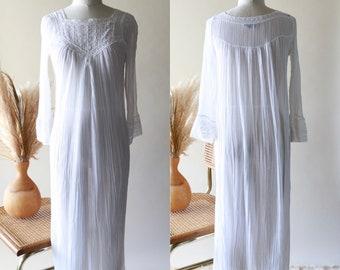 584df24c8fe Vintage CHRISTIAN DIOR White Cotton Gauze Night Gown