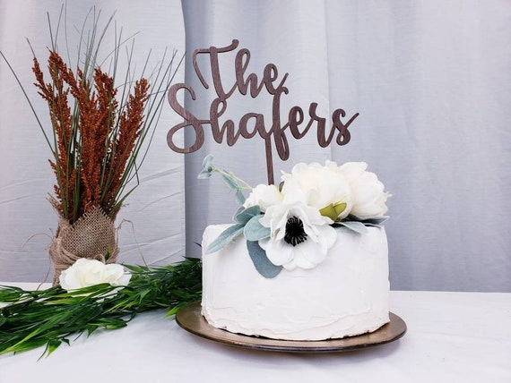 The Last Name Wedding Cake Toppers Personalized Wooden Wedding Cake Topper Ideas Personalized Cake Topper Ideas
