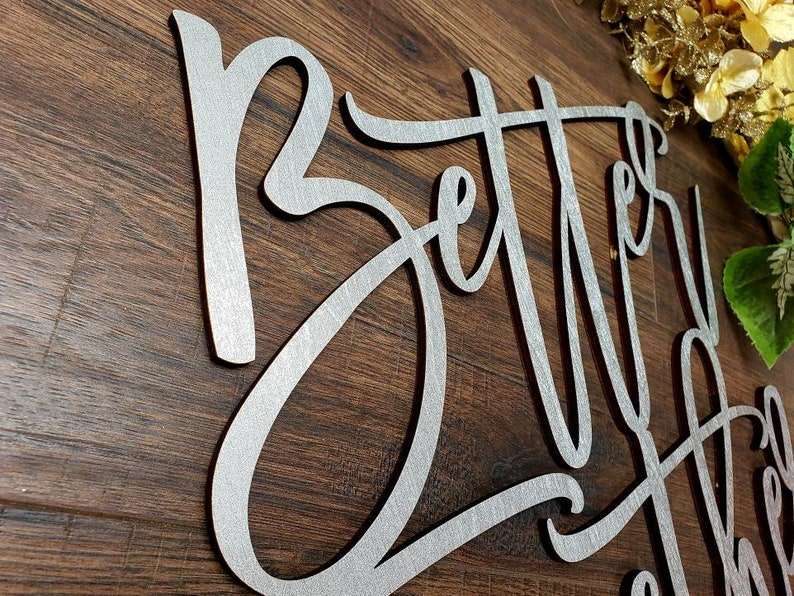 Wedding Decor Wedding Signs Better Together Wedding Backdrop Signs Large Custom Wood Signs Wedding Song Signs Initial Signs