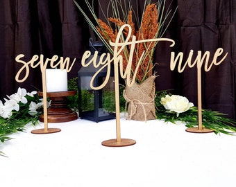 """Gold Table Numbers for Wedding 