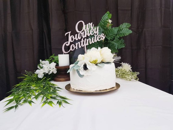 Our Journey Continues Cake Topper Gold Wooden Wedding Cake Topper Ideas Rose Gold