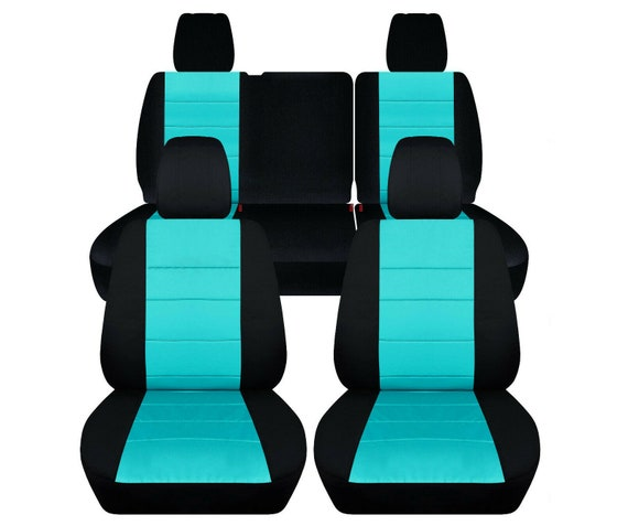 Pleasant Fit 18 20 Jeep Wrangler Jl Complete Seat Cover Set Made By Designcovers In Black And Mint Blue Insert Gmtry Best Dining Table And Chair Ideas Images Gmtryco