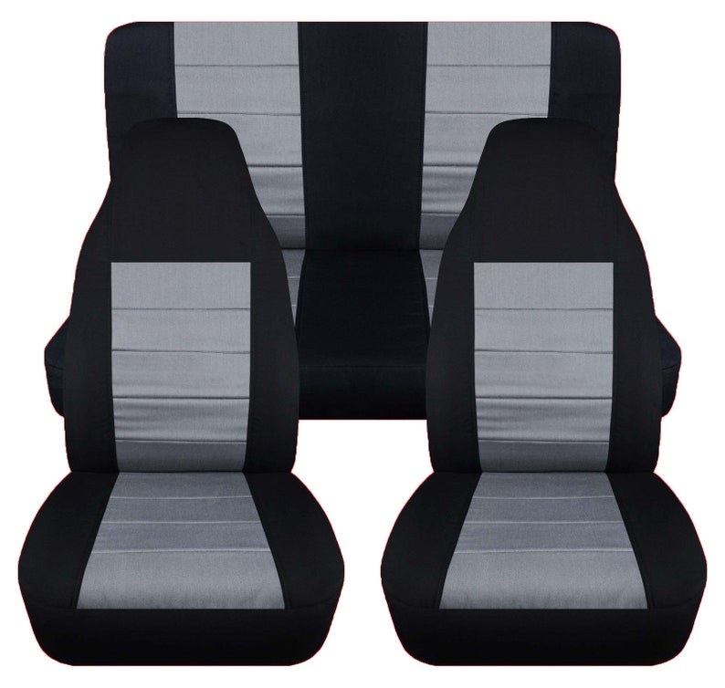 Superb Jeep Wrangler Tj Complete Seat Cover Set Black Silver Insert Gmtry Best Dining Table And Chair Ideas Images Gmtryco
