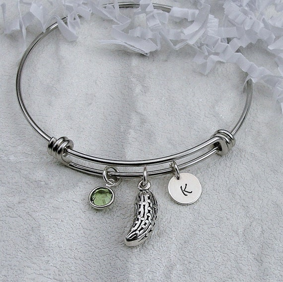 925 Sterling Silver Pickled Cucumber Dill Food Gift NEW Pickle Charm Necklace