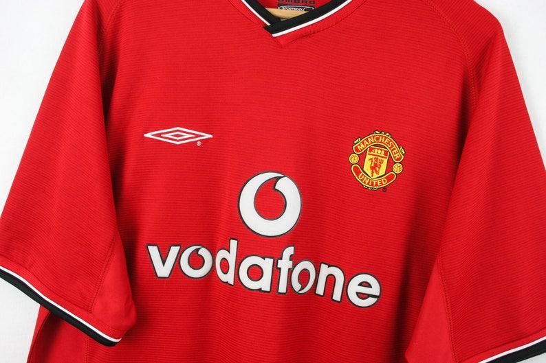 382551697d15 Vtg UMBRO Manchester United SPORTWOOL Jersey Shirt Tricot