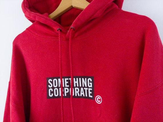 c—s • SOMETHING CORPORATE 90s Box Logo Red Hoodie