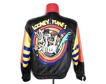 5c87c49753e9 Vintage Jeff Hamilton Looney Tunes Leather Jacket