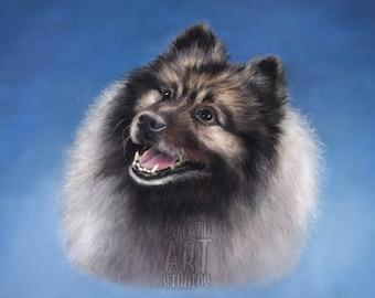 Custom 11 x 14 inch pet portrait / cat portrait / dog portrait / animal portrait / pastel pencil drawing / handmade original art