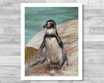 "Penguin Print (""Bingo"") Giclee Print Multiple Sizes Available 5x7 | 8x10"