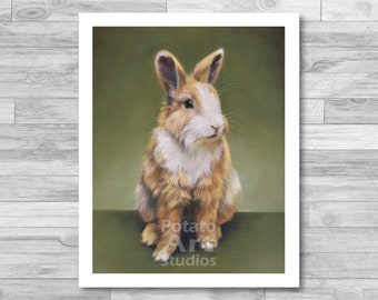 """Rabbit Print (""""Lucky"""") Giclee Print Multiple Sizes Available 5x7 