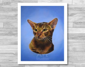 """Cat Print (""""Charles"""") Giclee Print Multiple Sizes Available 5x7 