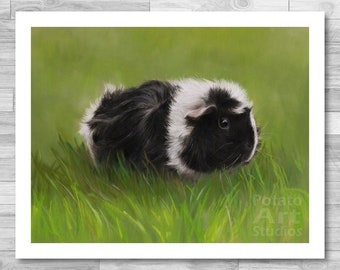 """Guinea Pig Print (""""Frankie"""") Giclee Print Multiple Sizes Available 5x7 
