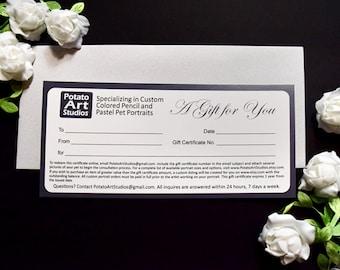 Gift Certificate for Custom Art from Potato Art Studios
