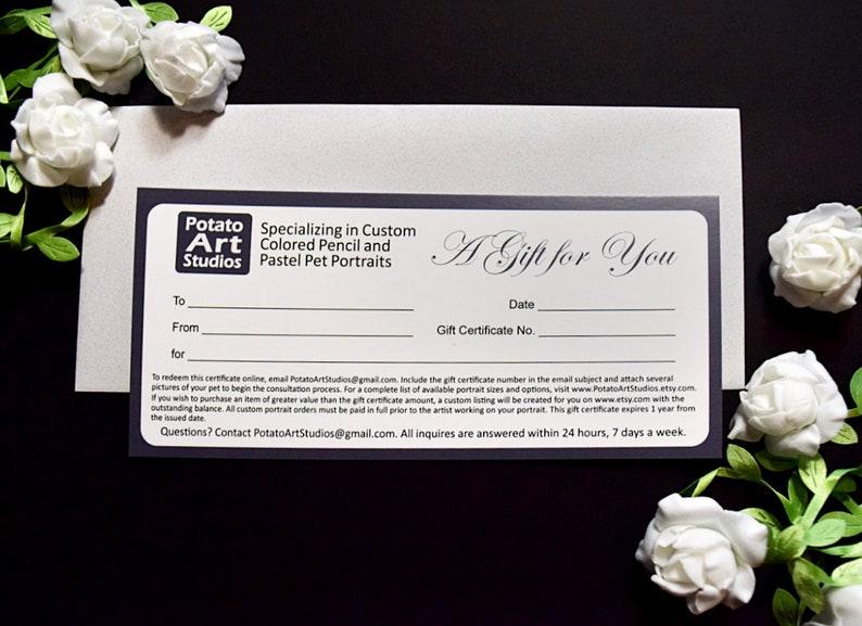 Gift Certificate for Custom Art from Potato Art Studios image 0