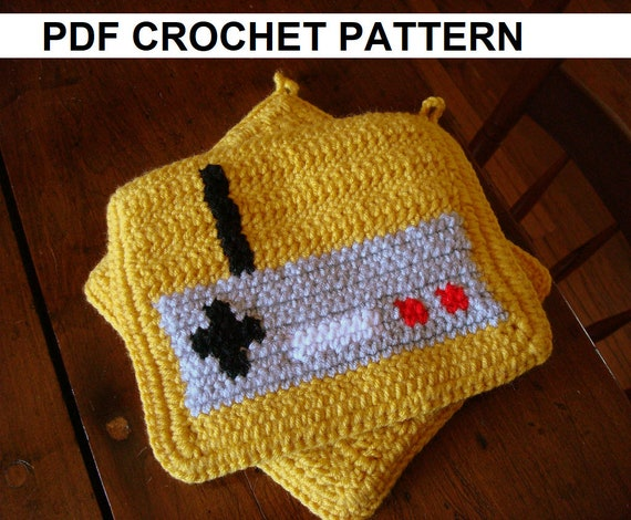 Video Game Controller Potholder Crochet Pattern Single Crochet Etsy