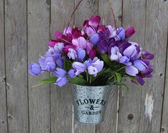 Spring wreath for front door