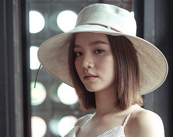a14fc269e Linen sun hat | Etsy