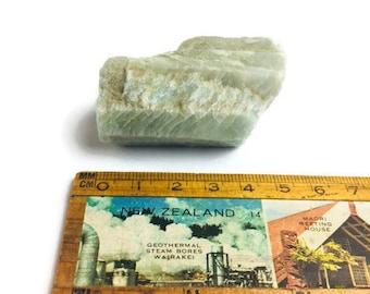 90G Natural Raw Aquamarine Crystal Gemstone Rough Green Rock Beryl Blue