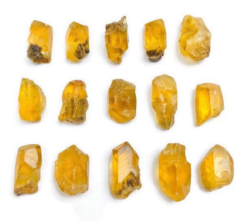 Barite Stone ONE Yellow Gold RARE Raw Crystal Nodule Gemmy Stone Rough XS Golden Barite Crystal 1