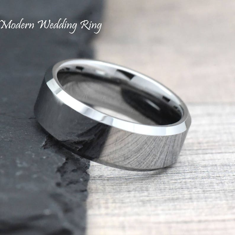 Tungsten Carbide Ring Mens Promise Ring Tungsten Wedding Band Tungsten Wedding Ring Promise Ring for Him Engagement Ring
