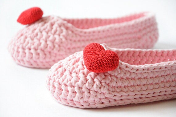 indoor gift pink slippers her House Vegan sock Women Adult gift for slippers cozy Sweet 16 Housewarming crochet slippers home shoes pxaCq