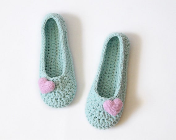 33a2d3c19 Women blue house knit slippers Vegan cozy home shoes Indoor   Etsy